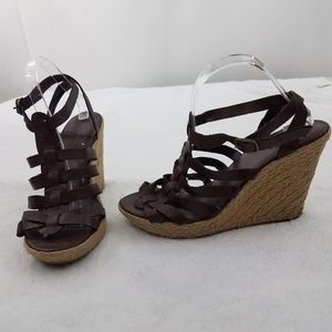 Banana Republic Wedges 10 Heels Espadrille Brown G